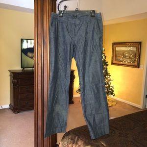 J. Crew Chambray/ Denim Trousers